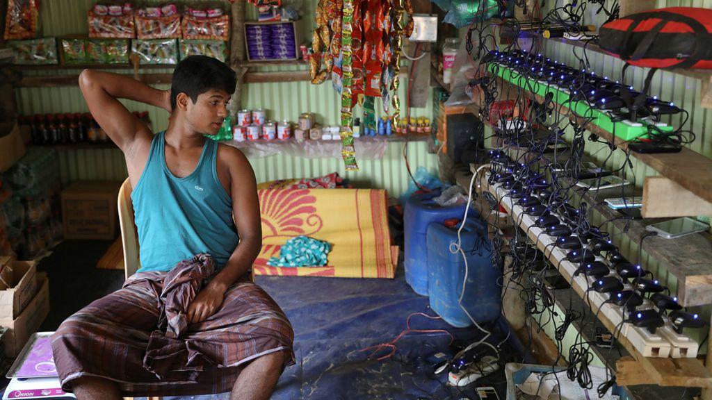 Una tienda para cargar los móviles
