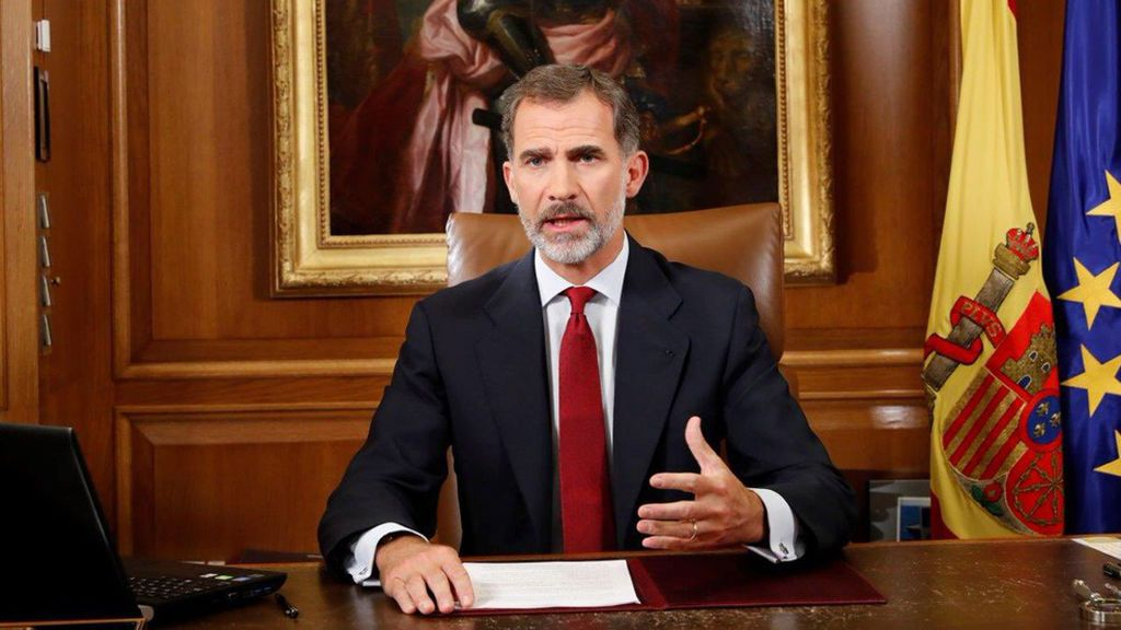 """El Rey pide a los poderes del Estado que """"asegure el orden constitucional"""" en Cataluña"""