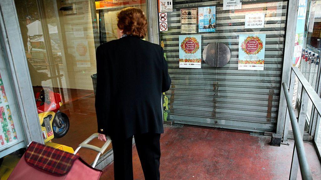 Mercado cerrado en Barcelona