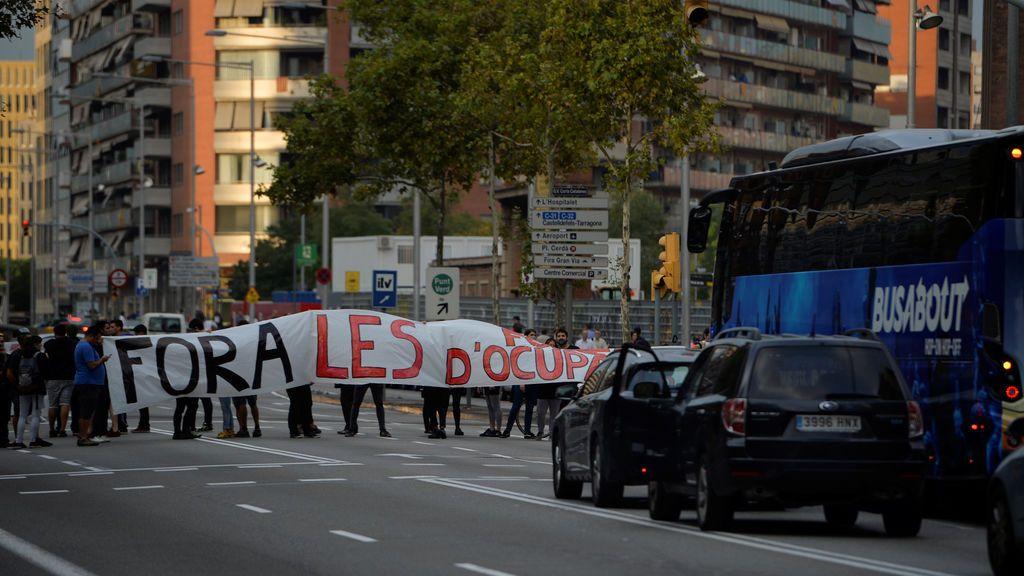 Cortes en las calles de Barcelona
