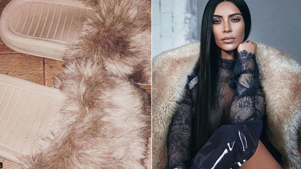 Kardashian tiene las  'furry sandals' del otoño: ¿te interesan en su versión 'super low cost'?