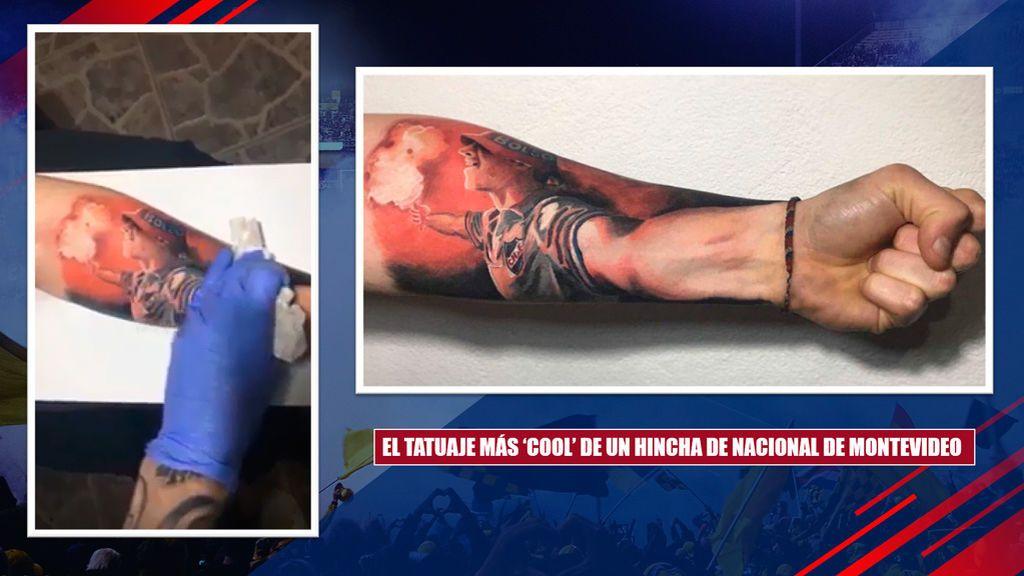 Vídeo Así Es El Tatuaje Del Hincha De Nacional Uruguayo Del Que
