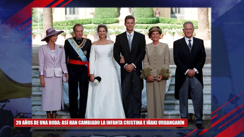 ¡Veinte años después! El cambio físico de la Infanta Cristina e Iñaki Urdangarín en el aniversario de su boda