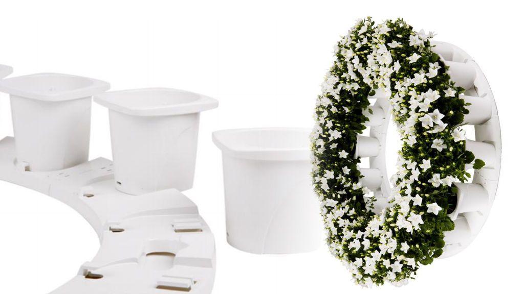 Coronas 'eco' para funerales: plantas que no se marchitan (y puedes llevarte a casa)