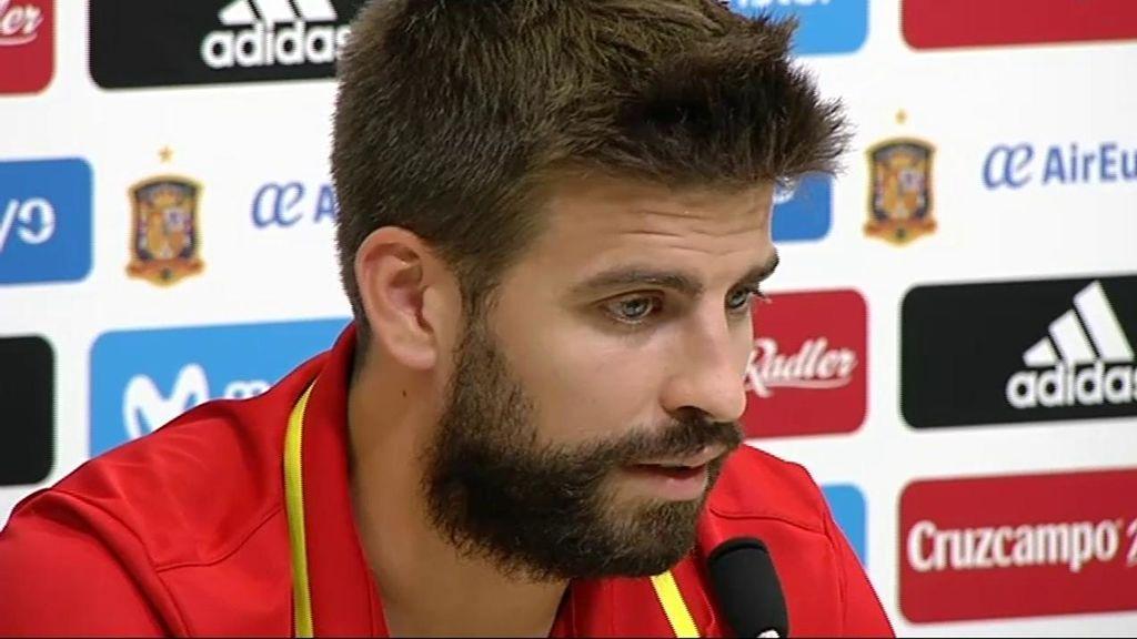 """Preguntan a Piqué si le preocupa cómo puedan tomarse en Cataluña su declaración: """"La gente me conoce, expreso lo que siento"""""""