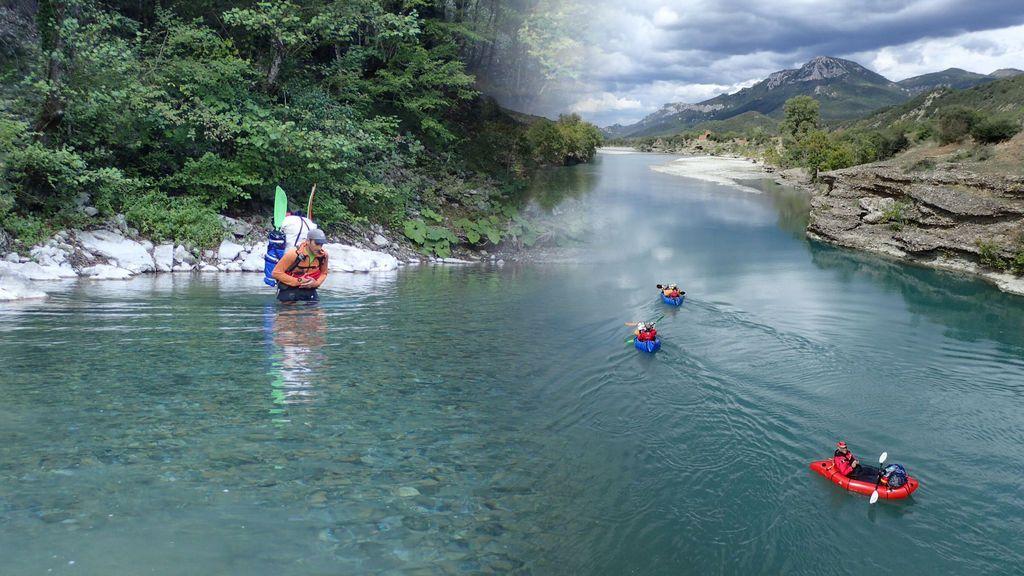 Y, al fin, el Vjosa: aguas azules cristalinas y pura naturaleza intacta en medio de Albania