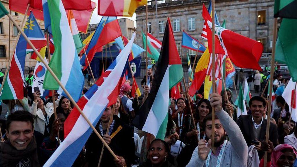 Jóvenes de 196 países se dieron cita hoy en Bogotá en la apertura de la cumbre One Young World (OYW)