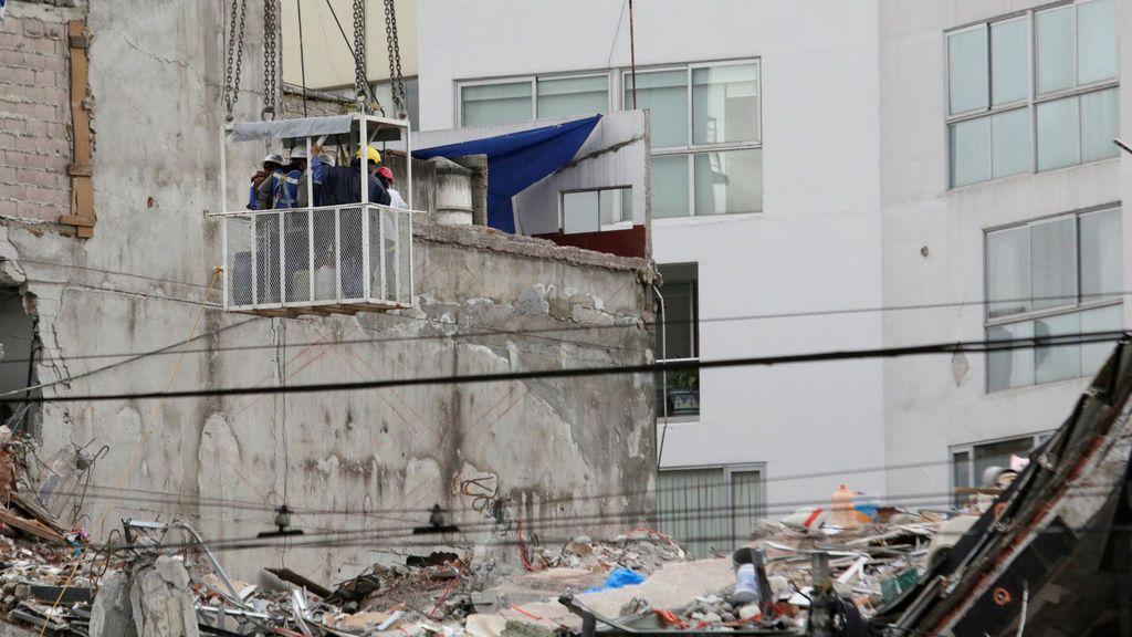 Restos del terremoto de México