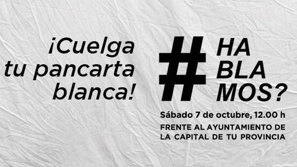 La iniciativa 'Hablamos?' convoca manifestación ante Cibeles y pide colgar sábanas blancas en los balcones