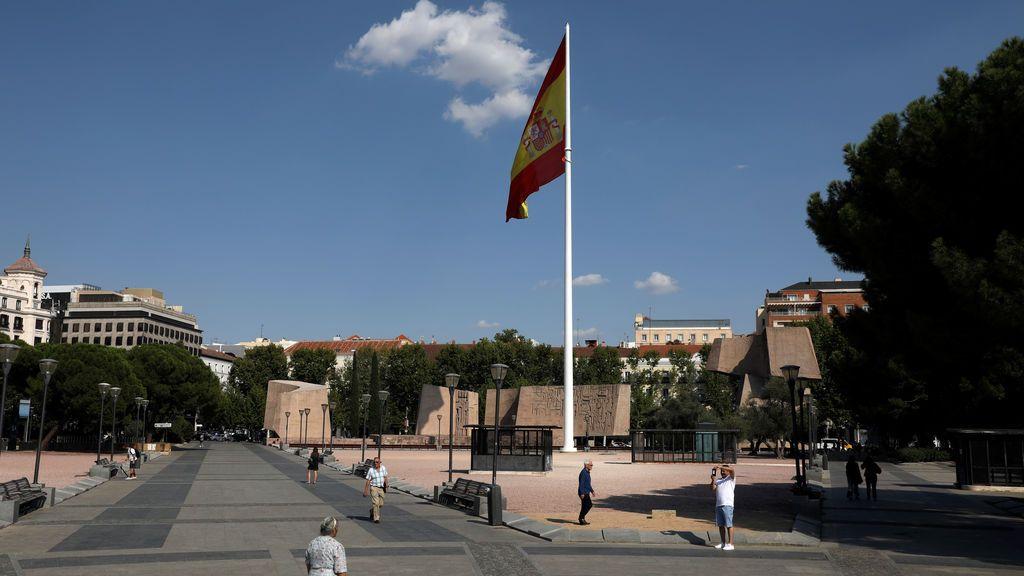 """Marcha en la madrileña plaza de Colón """"en defensa de la nación y la Constitución"""""""