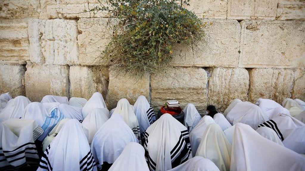 La fiesta judía de 'Sukkot' en la Ciudad Vieja de Jerusalén