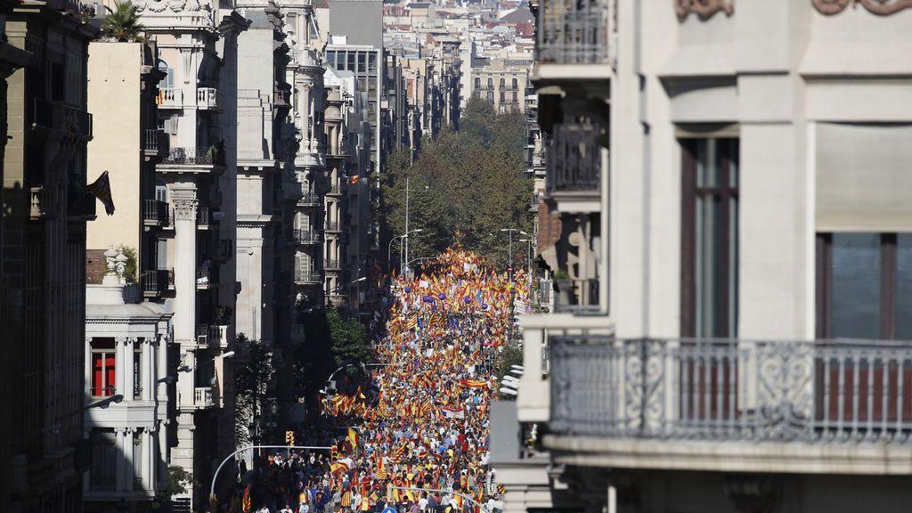 Arranca en Barcelona la manifestación por la unidad de España
