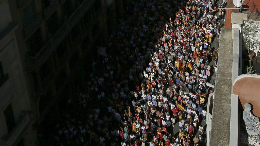 Impresionantes imágenes aéreas de la multitudinaria marcha en Barcelona