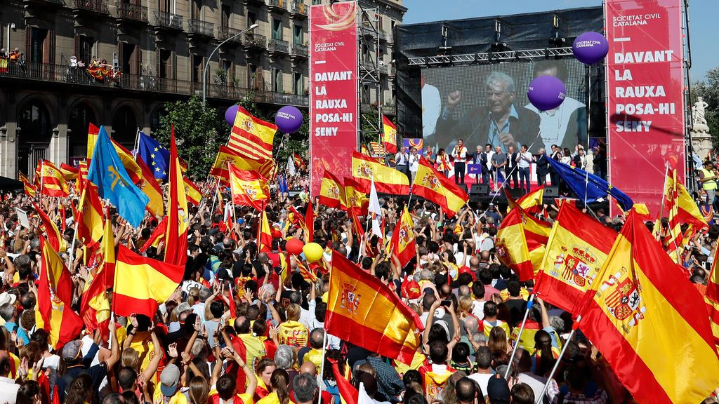 Sociedad Civil cifra en más de un millón de manifestantes en Barcelona y el Ayuntamiento, en 350.000