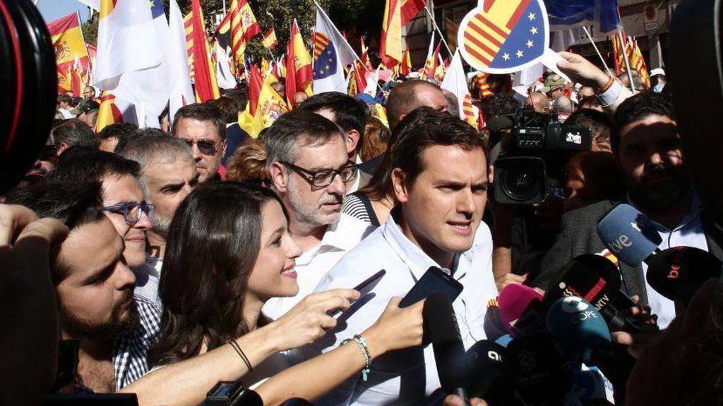 "Albert Rivera, sobre los miembros del Govern: ""Pasarán a la historia por unir a España"""