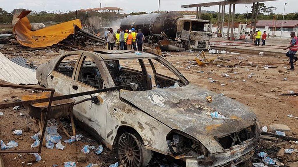 Explota en un depósito de gas en Ghana