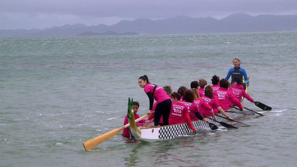 """Las mujeres """"Flamenco Rosa"""", unidas contra el cáncer de mama"""
