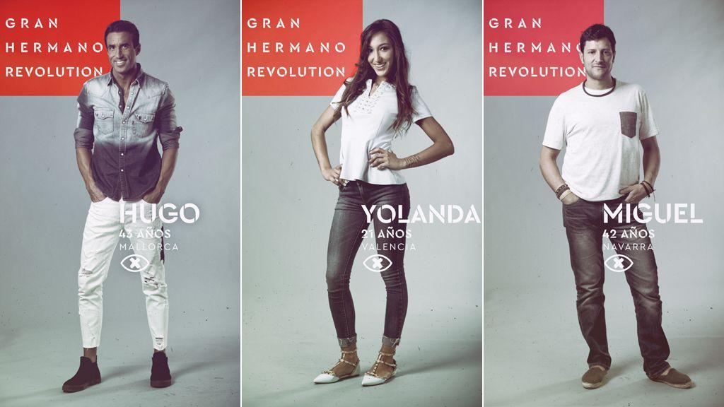 Hugo, Yolanda y Miguel, nominados en la cuarta gala de 'Gran hermano revolution'
