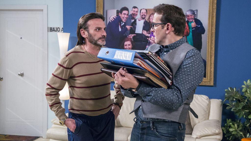 Fermín (Fernando Tejero) y Bruno (Luis Merlo) en la décima temporada de 'La que se avecina'
