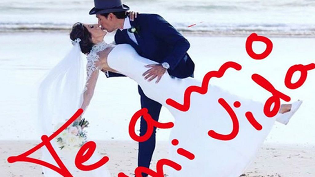 Paz Padilla comparte imágenes inéditas en el primer aniversario de su boda