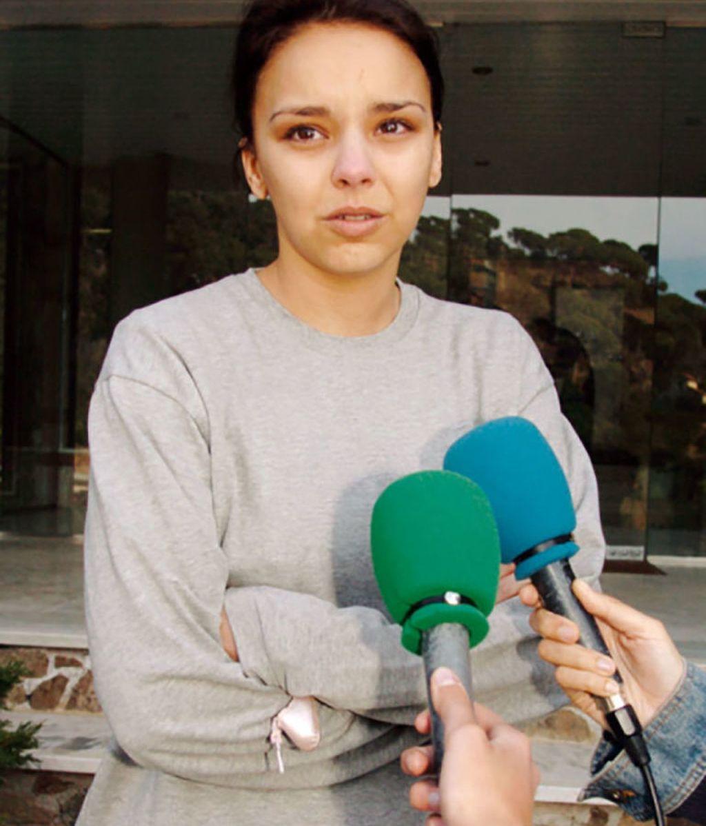 La cantante Chenoa, en el momento de anunciar su ruptura con David Bisbal