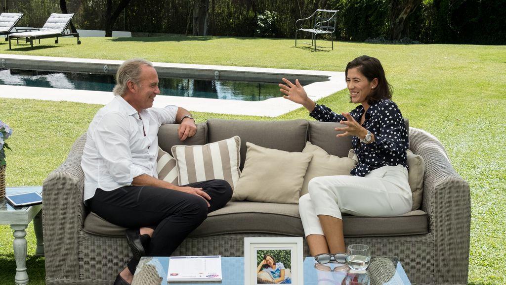La tenista Garbiñe Muguruza, invitada de Bertín Osborne al programa de Telecinco 'Mi casa es la tuya'