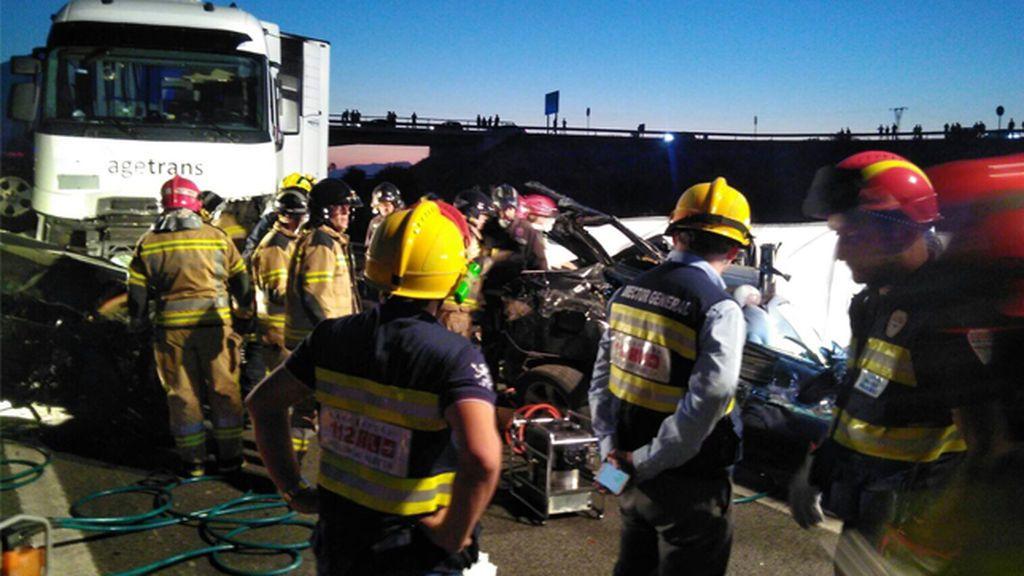 Seis fallecidos en un accidente múltiple en Sangonera la Seca, Murcia