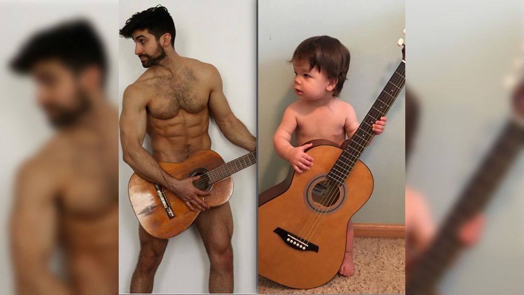 El modelo Aristotle Polites presume de sobrino en las redes con unos divertidos poses