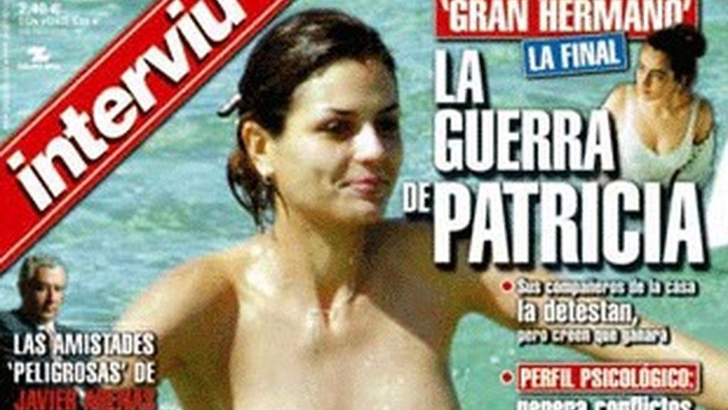 La portada de Interviú con María Reyes en 'top less'.