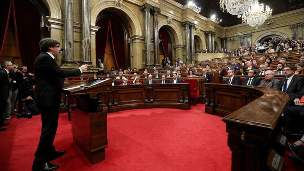 """Puigdemont: """"Esto no es una opinión personal, sino el resultado del 1 de octubre"""""""