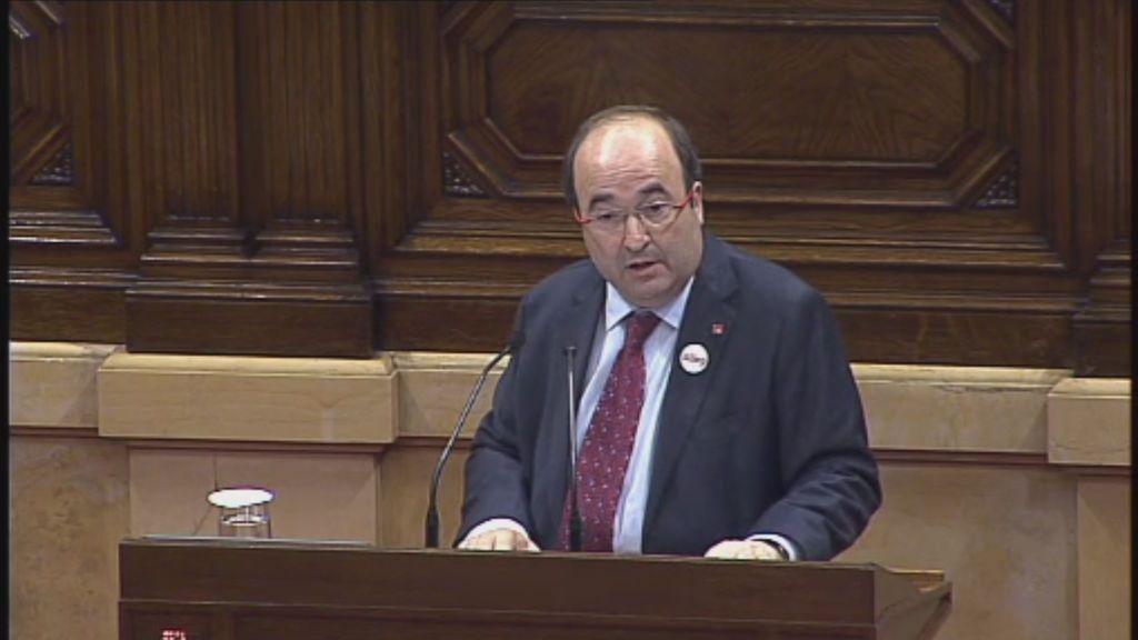 """Iceta pide a Puigdemont dejar claro que """"el Parlament no ha declarado la independencia"""""""