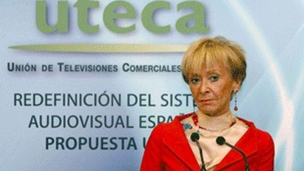 María Teresa Fernández de la Vega, en la jornada de UTECA.