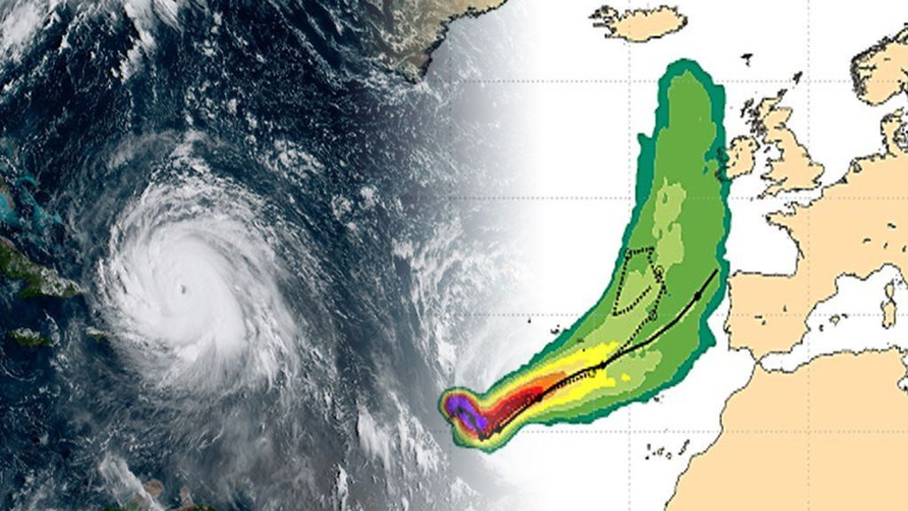 ¿Va a llegar el huracán Ophelia a Canarias y Galicia?