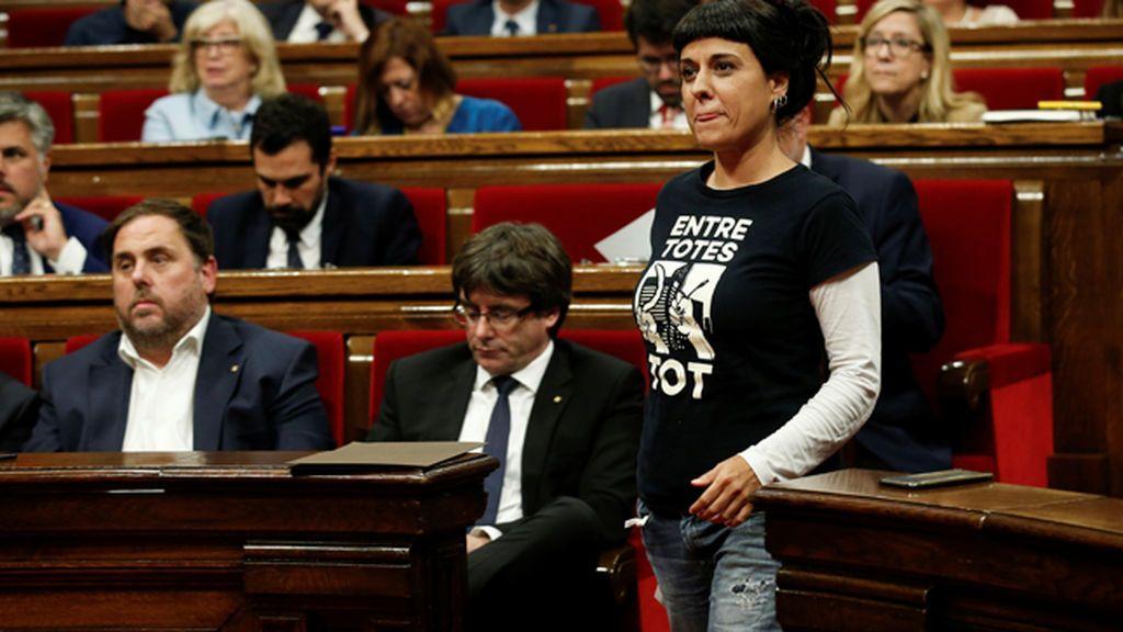 """CUP: """"Hoy tocaba proclamar la republicana catalana"""""""