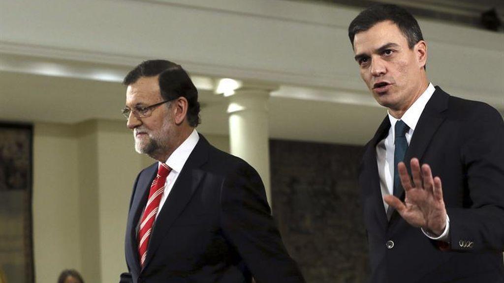 Pedro Sánchez se reune en Moncloa con Mariano Rajoy