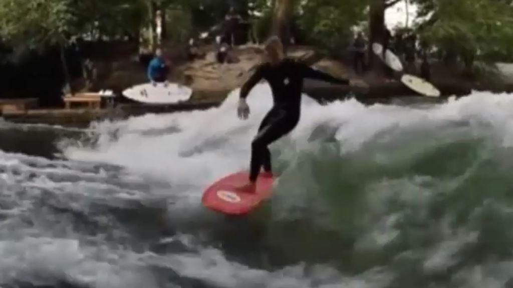 ¿Se puede surfear en los ríos? Los alemanes te demuestran que sí