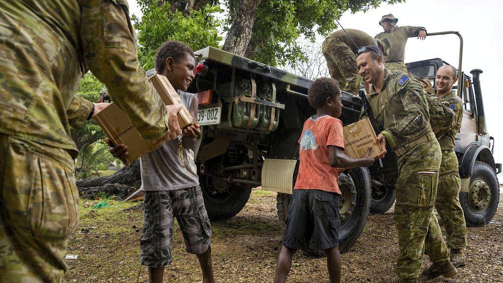 Ayuda a los afectados por el volcán Marano Voui en Australia