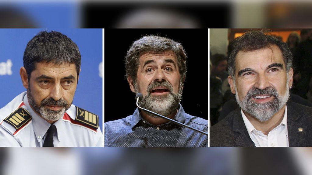 Trapero, Sànchez y Cuixart, citados el lunes en la AN por delito de sedición