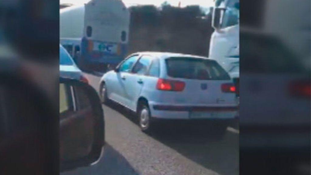 Persecución de película en mitad de la autovía en Ciudad Rodrigo