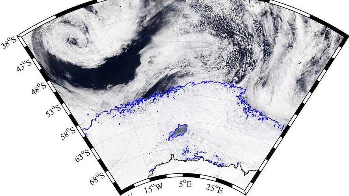 Agujero en la Antártida