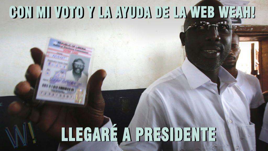 Weah, nuevo presidente de Liberia (el ex jugador, no nuestra web)