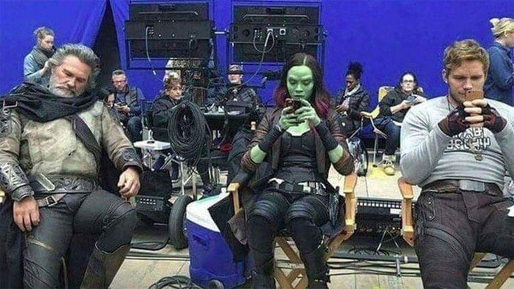 La divertida foto de Kurt Russell en el rodaje de 'Guardianes de la Galaxia Vol.2'