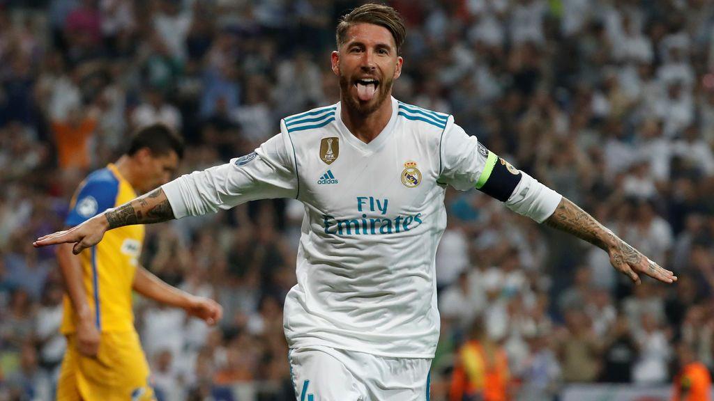 Sergio Ramos presume de la bandera de España