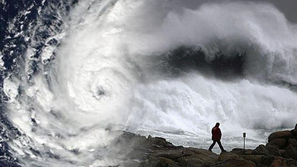 Fuerte oleaje, viento y nubosidad: las consecuencias del huracán Ophelia en Galicia