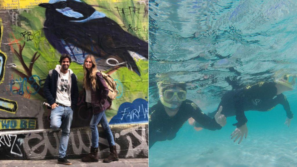 'Graffitis', rascacielos y la gran barrera de coral: así está siendo la luna de miel de Sibi Montes en Australia