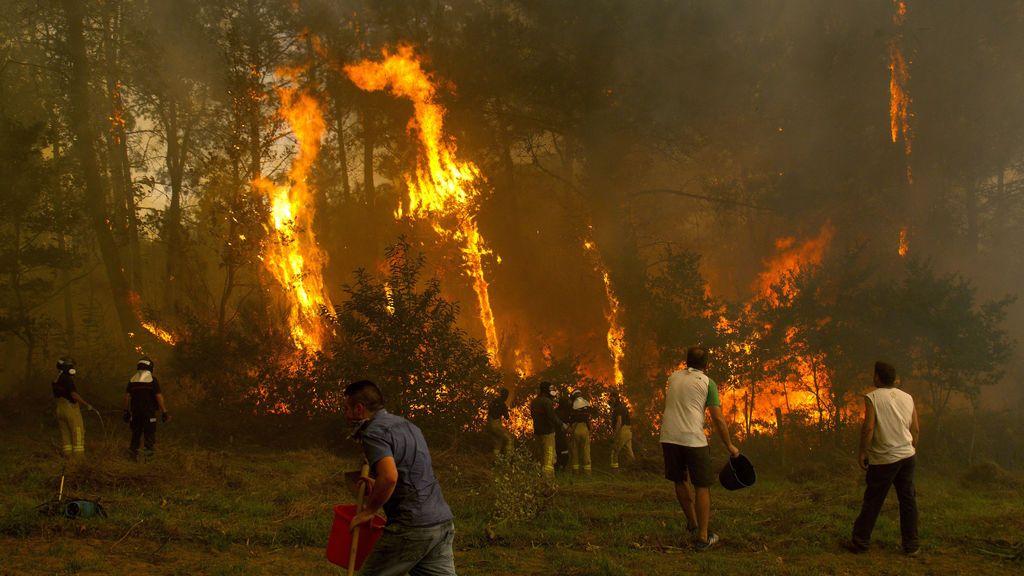Lucha desigual contra el fuego: la desesperación de los vecinos por el descontrol de las llamas