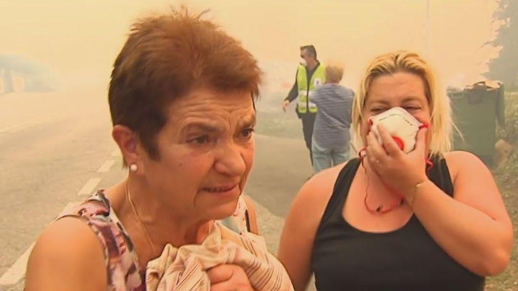 """""""¡Tengo a mi nieta aquí!"""": miedo entre los vecinos por la proximidad de las llamas"""