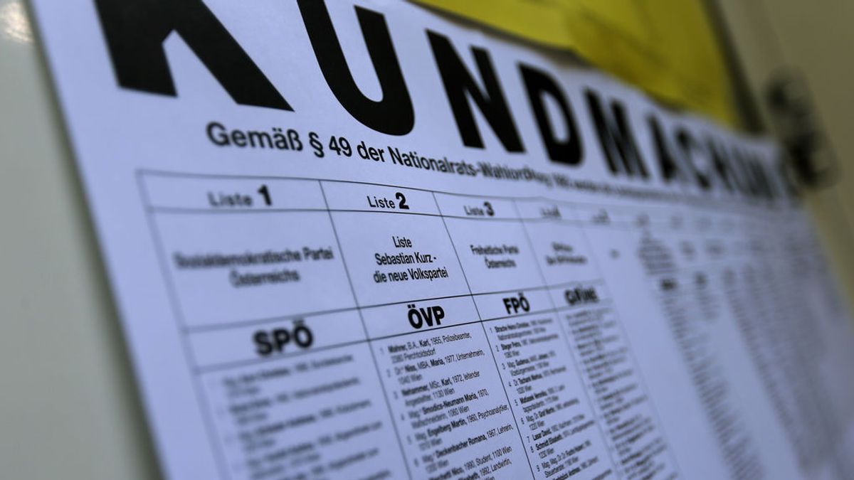 Papeleta. Elecciones Austria