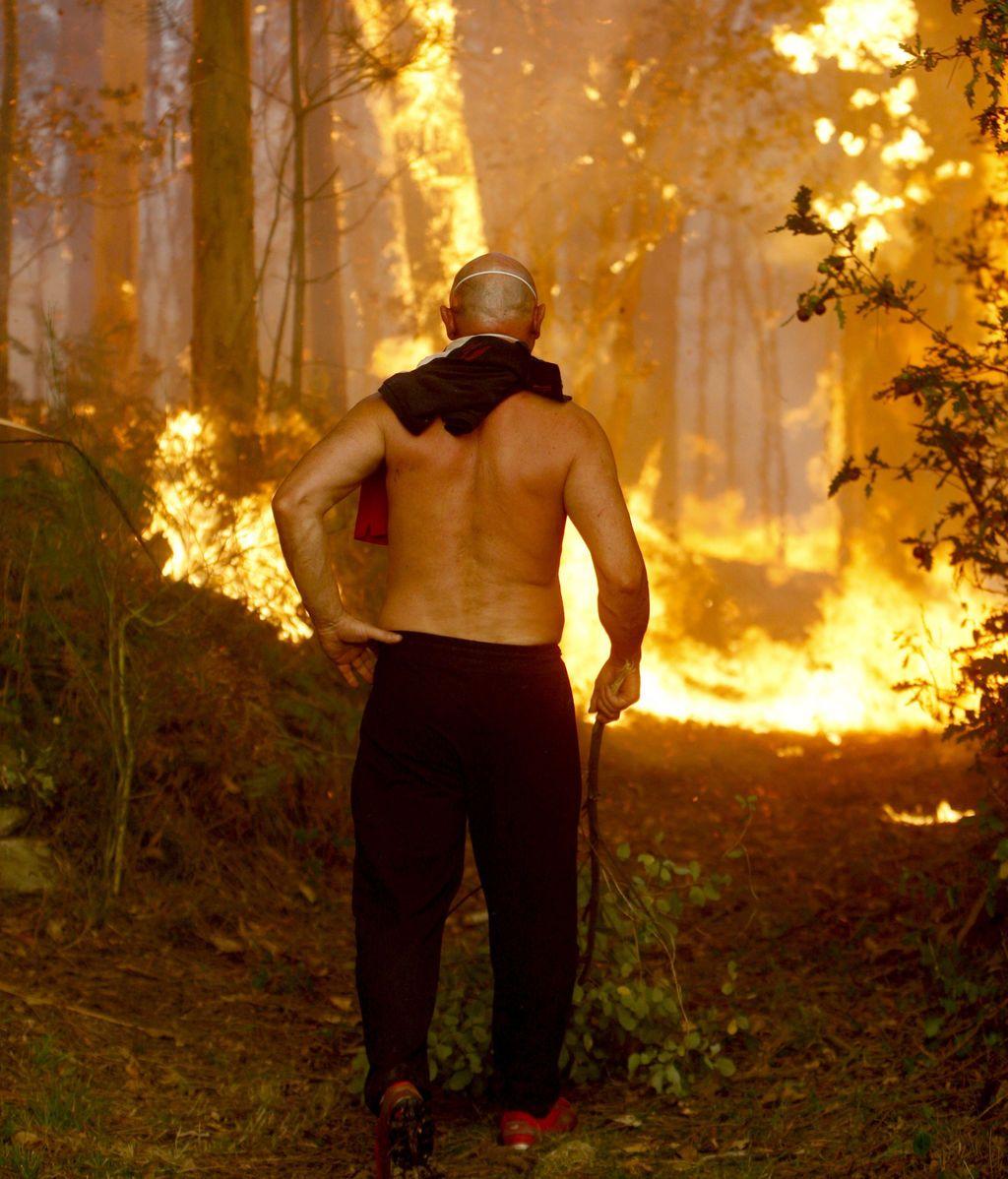 Galicia es azotada por 80 incendios