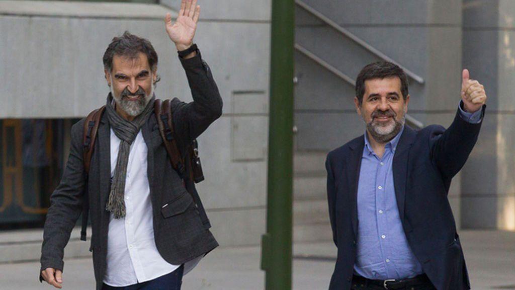 Prisión sin fianza para los presidentes de ANC y Òmnium, Jordi Sànchez y Jordi Cuixart